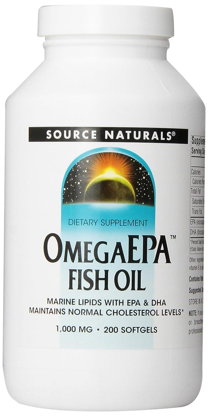 フィット遮るケープ海外直送品 Source Naturals Omega Epa Fish Oil, 200 Softgel 1000 MG