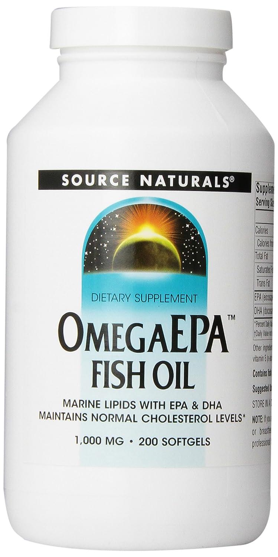 不足醸造所ベッド海外直送品 Source Naturals Omega Epa Fish Oil, 200 Softgel 1000 MG