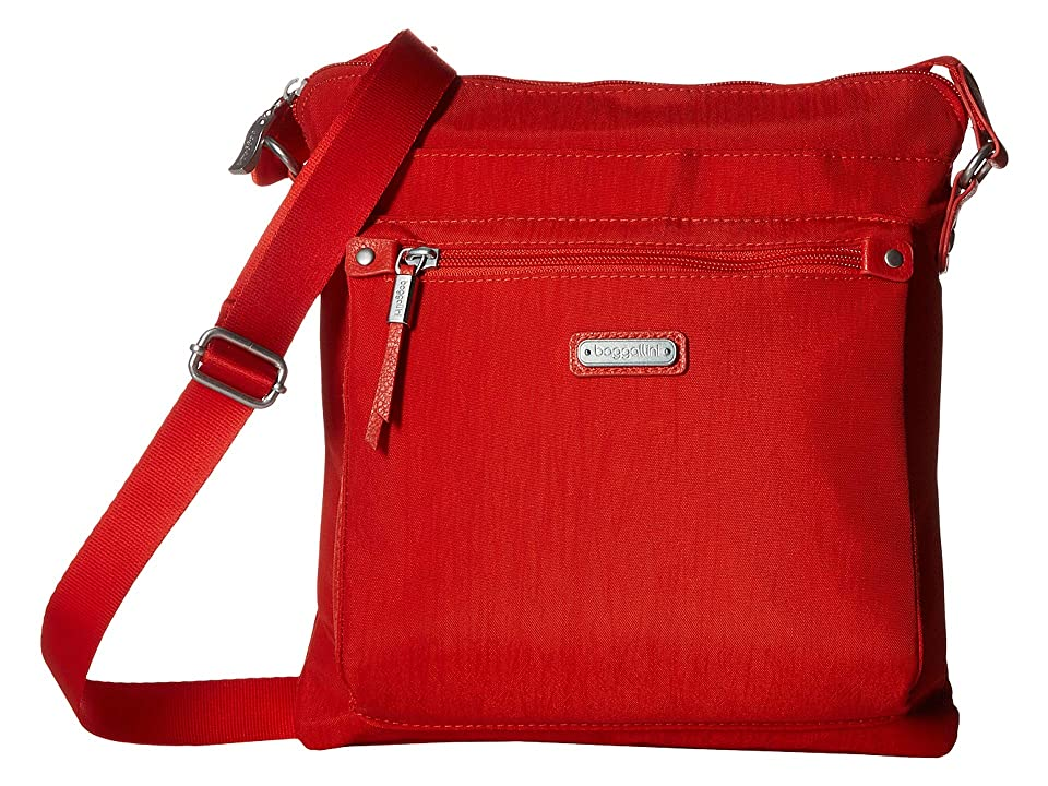 Baggallini New Classic Go Bagg with RFID Phone Wristlet (Vibrant Poppy) Bags