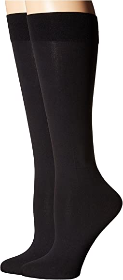 2-Pack Solid Knee Highs