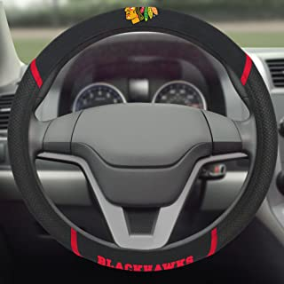 FANMATS 14789 NHL Chicago Blackhawks Polyester Steering Wheel Cover