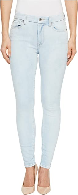 7 For All Mankind The High-Waist Ankle Skinny in Bleached Out