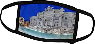 3dRose Face Mask Small, Italy, Rome, Trevi Fountain at dawn