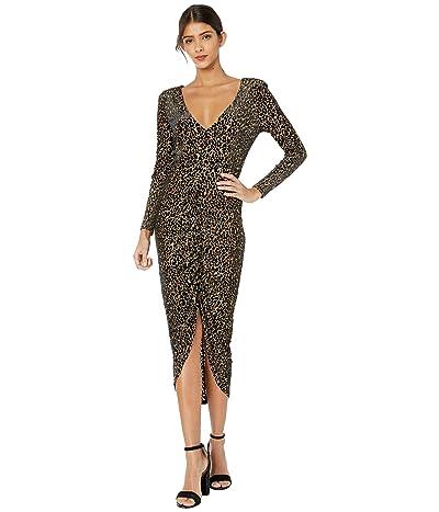BB Dakota Better To Burnout Leopard Velvet Knit Dress (Light Camel) Women