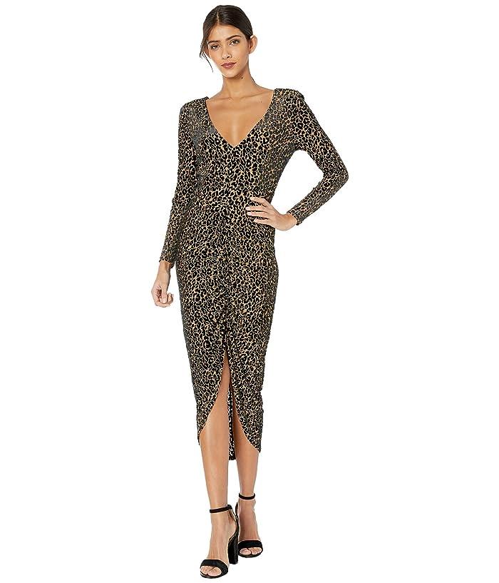 BB Dakota  Better To Burnout Leopard Velvet Knit Dress (Light Camel) Womens Dress