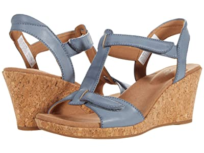 Rockport Blanca T Strap (Blue Chambray) Women