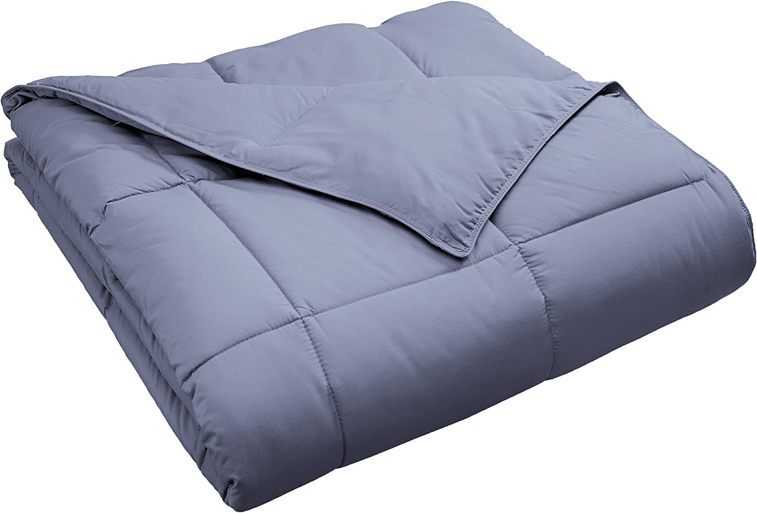 Superior Classic All-Season Down Alternative Comforter with with Baffle Box Construction, King, Silver