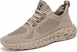 Men's Running Shoes, Tennis Shoes, Walking Shoes, Trainers, Lightweight, Breathable Sports Shoes, Trainers, Bronze, 7 UK