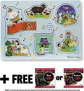 Sing-Along Nursery Rhymes 2: 6-Piece Sound Puzzle + FREE Melissa & Doug Scratch Art Mini-Pad Bundle (07375)