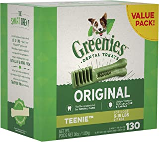 Greenies Dog Dental Chews Dog Treats - Teenie Size (5-15 lb Dogs)