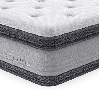 Full Mattress, Coolvie 10 Inch Memory Foam and Innerspring Hybrid Mattress in a Box, Individually Pocket Spring with Multi Layer Comfy Cool Memory Foam, CertiPUR-US Certified, No-Risk 100 Night Trial
