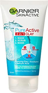 Garnier Pure Active 3 in 1 Wash Scrub & Mask 150ml