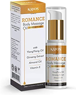 Kayos Romance Body Massage Oil for Men & Women Personal Lube For Relaxation with Ylang Ylang Oil - Romantic Gift Idea
