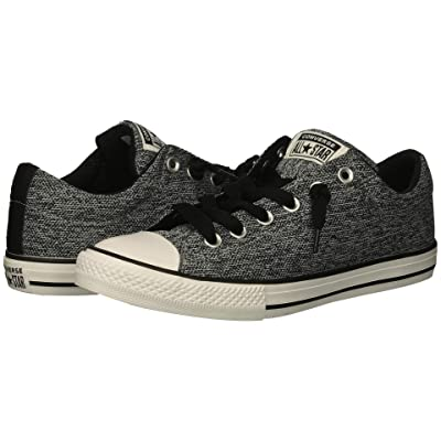 Converse Kids Chuck Taylor All Star Street Slip (Little Kid/Big Kid) (Wolf Grey/Black/White) Boys Shoes
