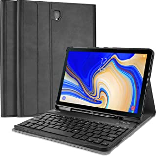 ProCase Keyboard Case for Galaxy Tab S4 10.5, Slim Shell Lightweight Smart Cover with Magnetically Detachable Wireless Keyboard for Galaxy Tab S4 10.5-Inch (SM-T830 T835 T837) -Black
