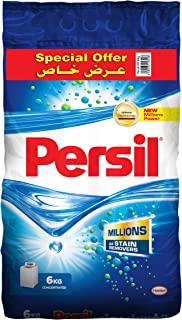 Persil Detergent Powder, Top Loading - 6 kg, Pack of 1