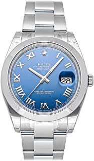 Datejust Mechanical (Automatic) Blue Dial Mens Watch 126300 (Certified Pre-Owned)