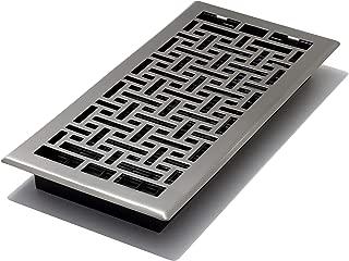 Decor Grates AJH614-NKL Oriental Floor Register, 6-Inch by 14-Inch, Nickel