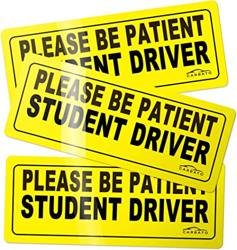 CARBATO Student Driver Magnet Safety Sign Vehicle Bumper Magnet - Car Vehicle Reflective Sign Sticker Bumper for New ...