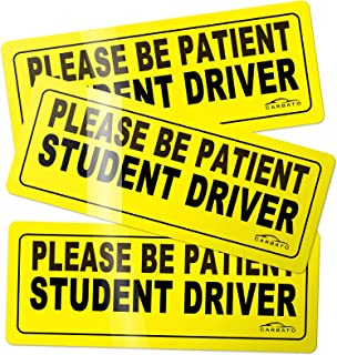 CARBATO Student Driver Magnet Safety Sign Vehicle Bumper Magnet - Car Vehicle Reflective Sign Sticker Bumper for New Drive...
