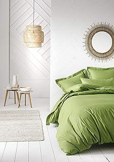 Today Drap-housse en coton - 106125 - Vert Bambou - 140 x 190 cm