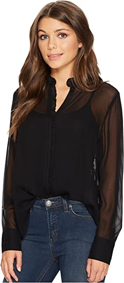 Lucky Brand - Ruffle Neck Top