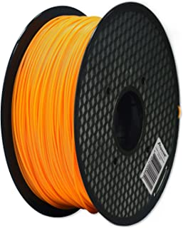 Aspectek 3D Printer 1.75mm ABS Filament 2.2lbs - Orange - Compatible with Printrbot, MakerBot, MakerGear and Many Other Printers