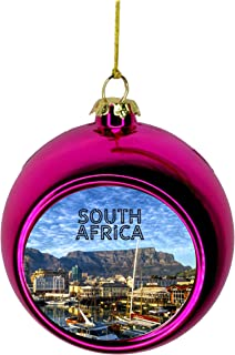 Jacks Outlet Cape Town South Africa Ornament South African Christmas Ornament South Africa Christmas Tree Ornaments Travel Table Mountain Ornament Christmas Décor Pink Ball Ornaments