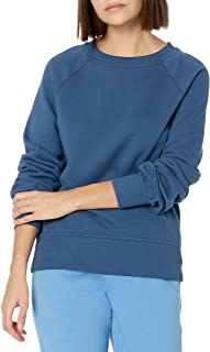 Amazon Essentials Women's Classic Fit Gathered Long Sleeve Crewneck Sweatshirt