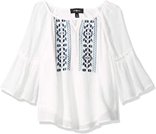 Amy Byer girls Embroidered Peasant Top Blouse