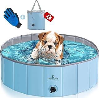 Dog Pool Plastic Foldable - Kiddie Pool for Dogs | Hard Plastic Pool for Kids | Foldable Pool | Pet Pool | Portable Pool | Wading Pool | Dog Swimming Pool | Dog Pools No Leaks