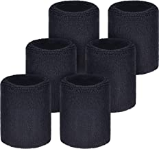 6 Pack Sports Wristbands Absorbent Sweatbands for Football Basketball, Running Athletic Sports
