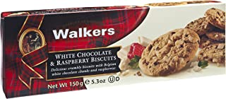 Walkers White Chocolate and Raspberry Biscuits, 150g