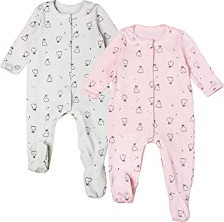 COTTON FAIRY Baby Girl Footed Romper Newborn Jumpsuit