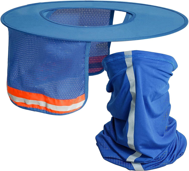 Topbuti 2 Pcs Sun Max 45% Surprise price OFF Visor Hard Hat Shield Full Brim Mesh Sunsh