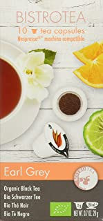 Bistrotea Bio Earl Grey Tee-Kapseln - Nespresso Maschinen kompatibel, 2er Pack 2 x 20 g