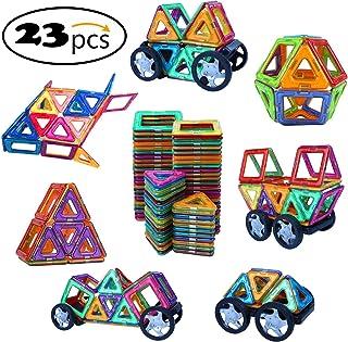 Ehome Magnetic Blocks, 23 PCS Magnetic Building Blocks, Car Building Educational Magnetic Building Set