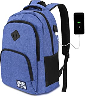 Laptop Backpack,School Backpack,Water Repellent Computer Backpack with USB Charging Port for College Business Travel