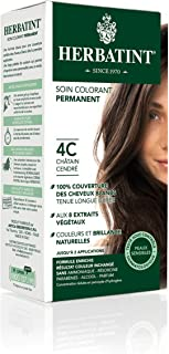 Herbatint Permanent Herbal Haircolor Gel, 4C Ash Chestnut, 4 Ounce
