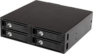 StarTech.com 4-Bay Mobile Rack Backplane for 2.5in SATA/SAS Drives - Hot Swap SSDs/HDDs from 5-15mm - Supports SAS II & SA...