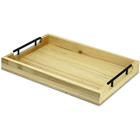 Rustic wood serving tray decor center piece