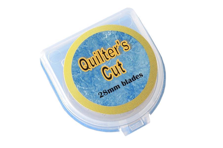 Quilter's Cut 28mm Rotary Blades, 12 Pack, Fits Olfa, Fiskars, Martelli, & Truecut