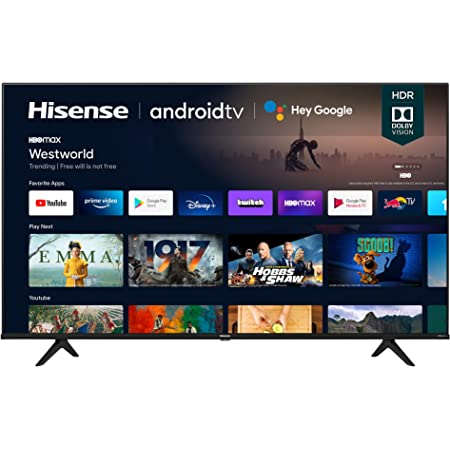 Hisense 55A6G 55-Inch 4K Ultra HD Android Smart TV with Alexa Compatibility (2021 Model)