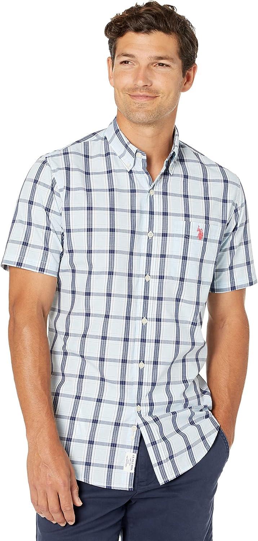 U.S. Polo Assn. Short Sleeve Three-Color Plaid Woven Shirt