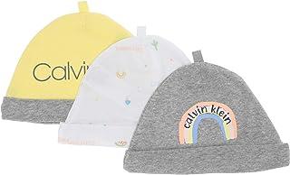 Calvin Klein baby-boys unisex-baby RH3111C Unisex Hat, Multipack Winter Accessory Set - multi - One Size