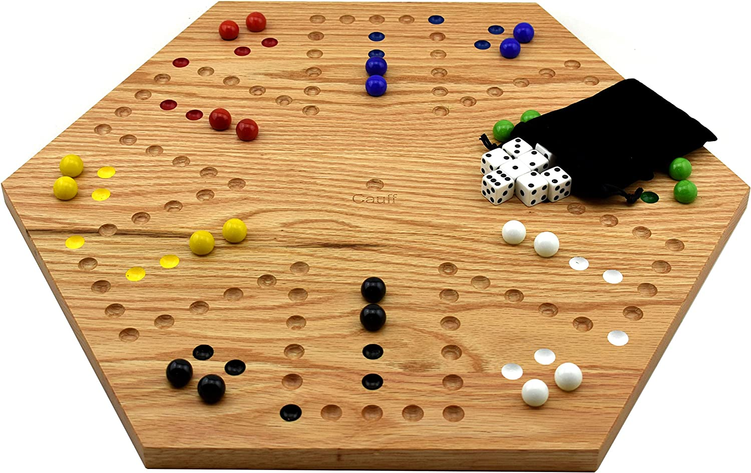 Solid Oak Double Sided Aggravation Marble Luxury Game free shipping Painte Board Hand
