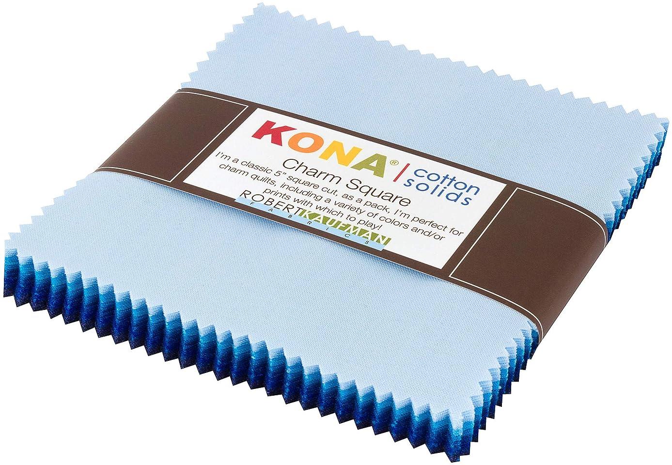 Kona Cotton Solids Waterfall Charm Square 42 5-inch Squares Charm Pack Robert Kaufman CHS-732-42