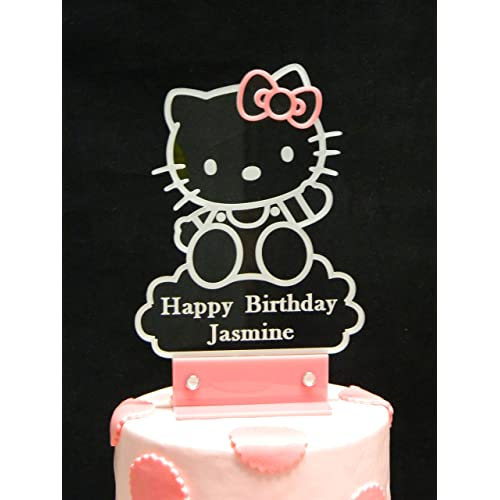 839946506 Personalized Hello Kitty Inspired Cake Topper, Personalized in Acrylic and  LED Light.