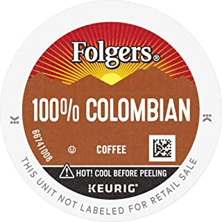 Folgers 100% Colombian Coffee, Medium Roast, K Cup Pods for Keurig K Cup Brewers, 144 Count, Packaging May Vary