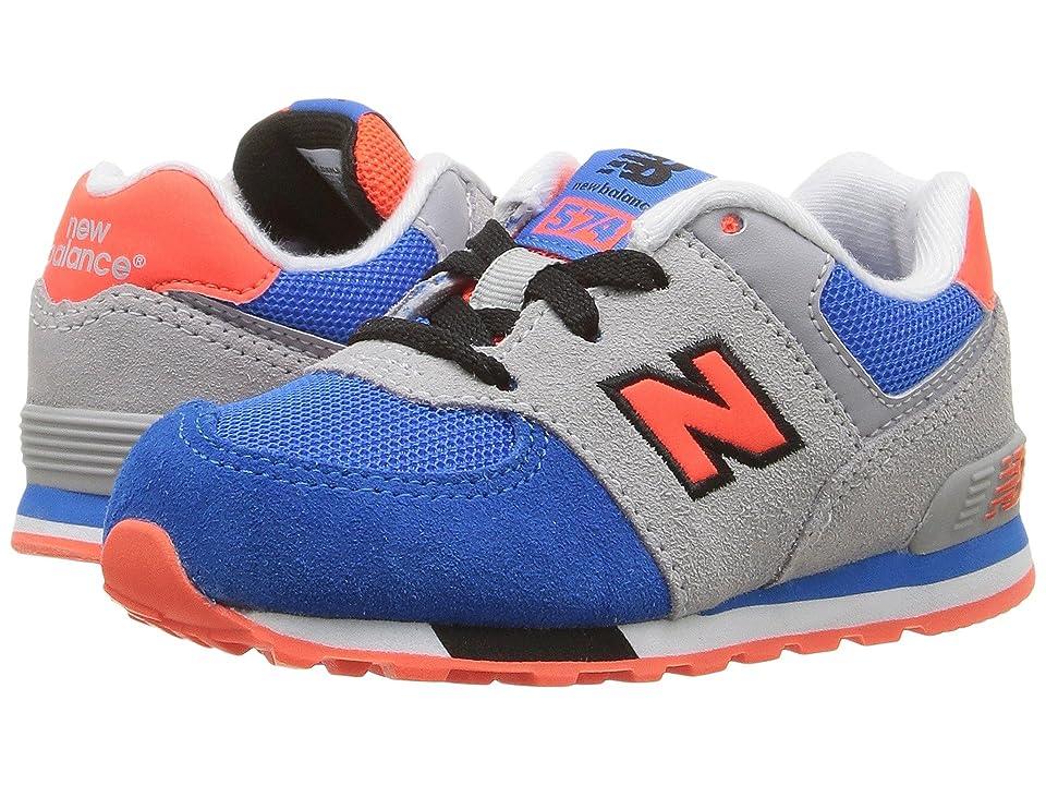 New Balance Kids KL574v1 Cut Paste (Infant/Toddler) (Grey/Blue) Boys Shoes